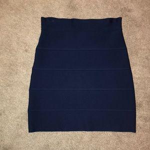 Bcbg navy bandage skirt